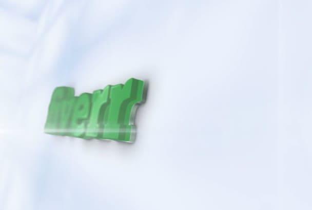 do Glossy 3D logo intro