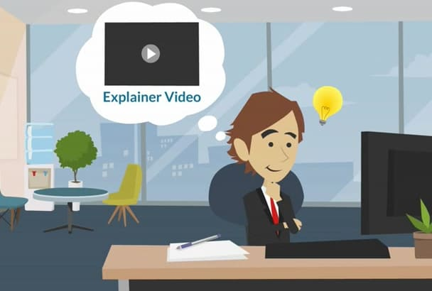 create custom 2d animated cartoon and sales video
