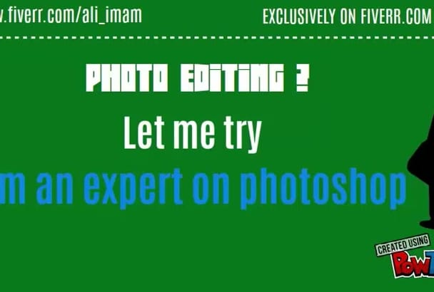 do any kind of Photoshop job within 24 hr