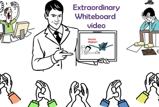 create Custom Whiteboard animation video in any language