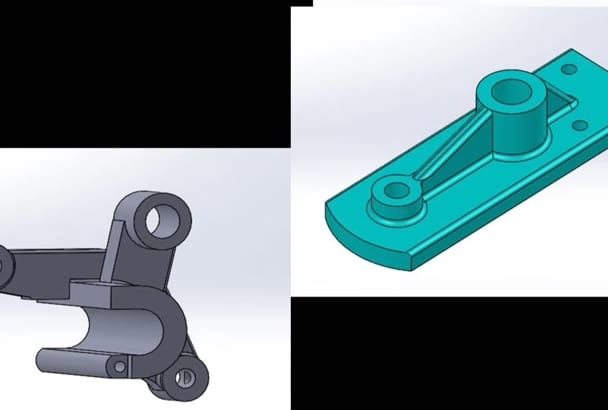 create 2D and 3D CAD model using SolidWorks