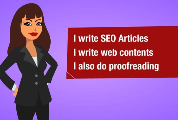 do SEO article writing for you