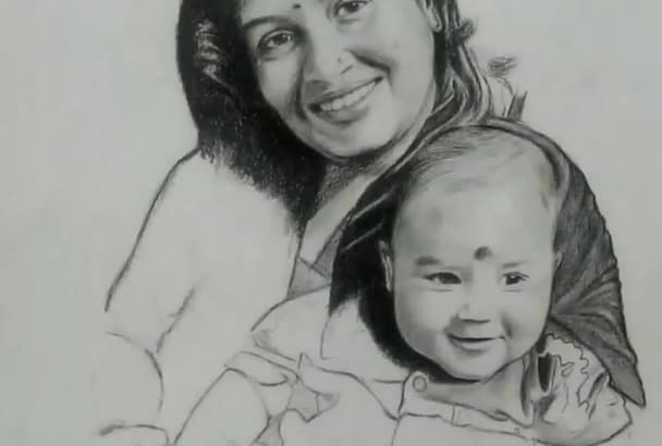 draw any kind of drawings and portraits realistic arts