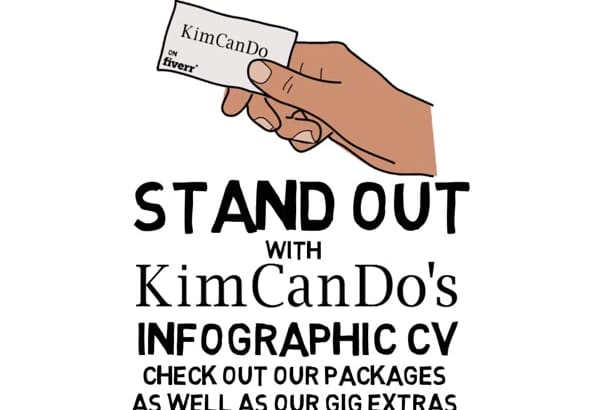 create an awesome Infographic CV or resume
