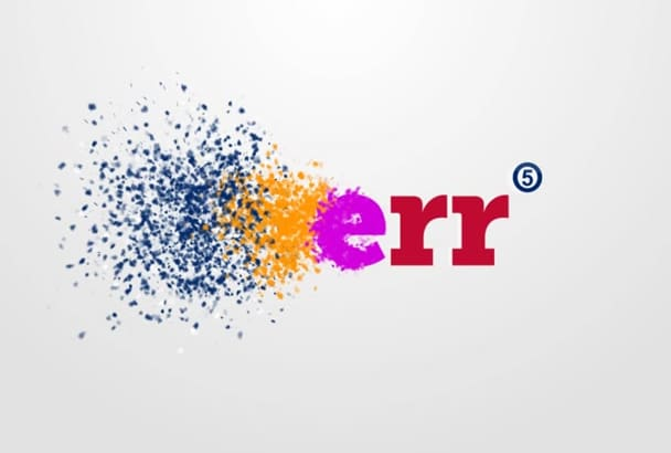 create logo animation from particles