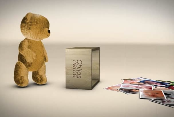 make teddy bear children video photo slideshow