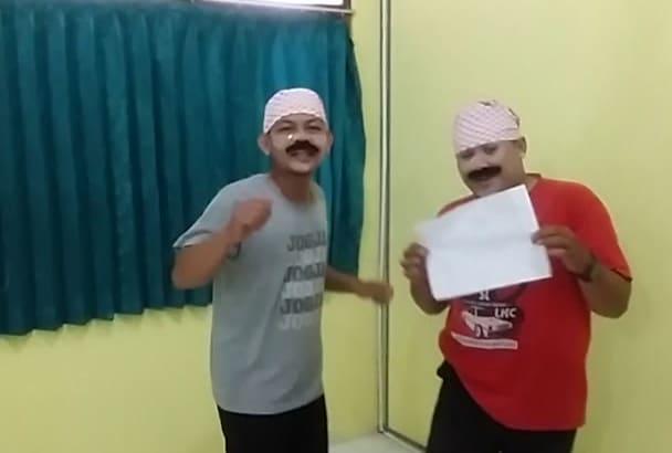 singing Happy Birthday as two madura man