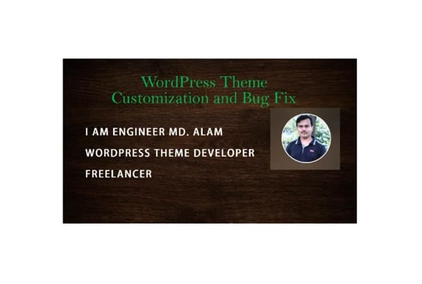 fix WordPress error, and customize  theme