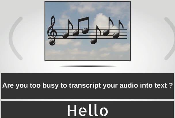 do Transcription of English video or audio