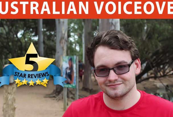 record AUSTRALIAN male voice over
