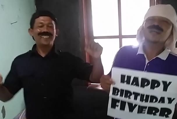 sing happy birthday as security guy