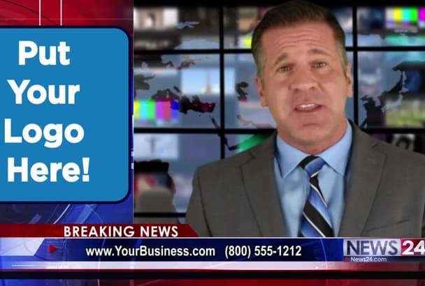 produce a newscast video