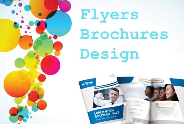 design flyers, posters, brochures