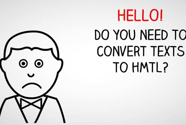 convert your Texts to HTML Codes