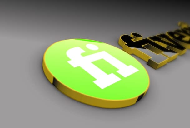 create this golden 3d logo intro