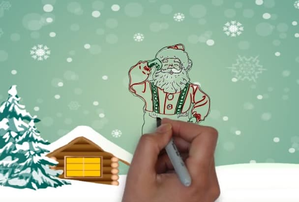 create a Christmas whiteboard video