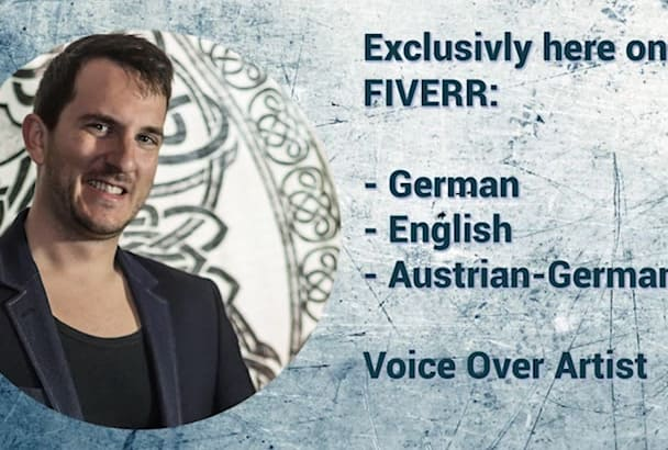 do a pro german Voice over today