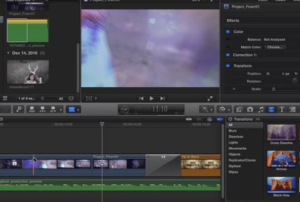 doing video editing with final cut pro x and apple motion