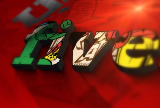 make MARVELOUS Logo Comic Slideshow Video