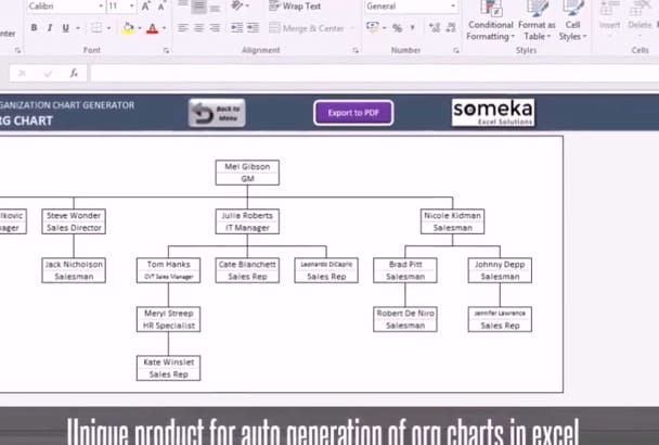 send you Automatic Organizational Chart Generator in Excel