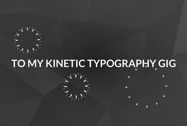 create a professional KINETIC typography video