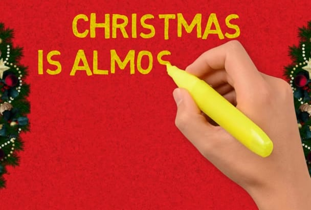 make a CHRISTMAS and new year greeting animation in 5 hours