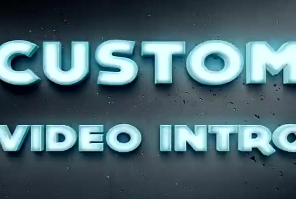 make CUSTOM Video Intro