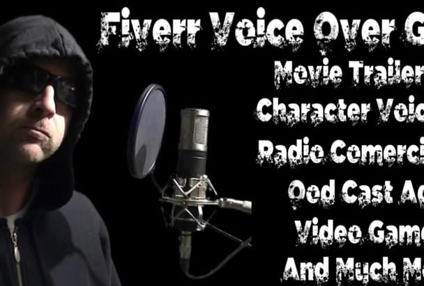 do a strange and unique character voice over for you