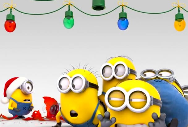 make minions funny video with your logo and text
