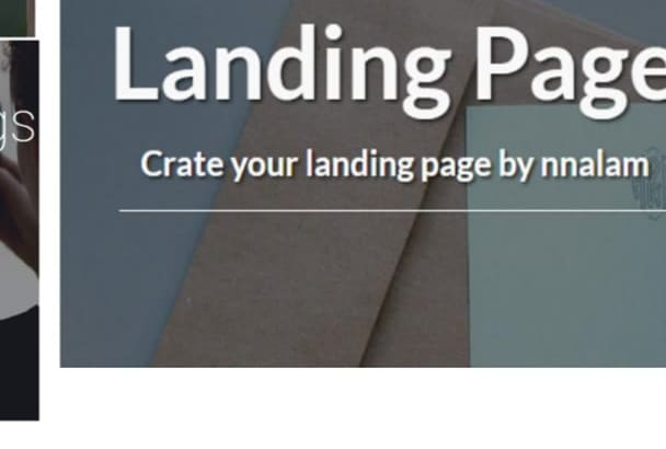 create responsive Landing Page only 24 hours