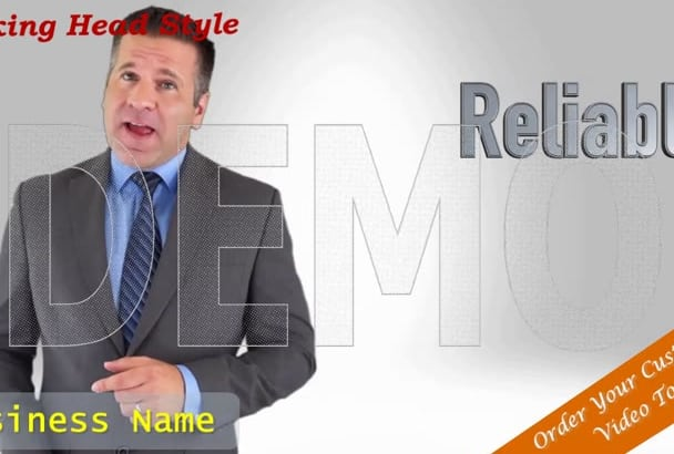 customize one of my Professional Video Spokesman Templates