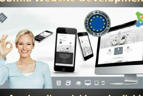 develop responsive SEO friendly Joomla website