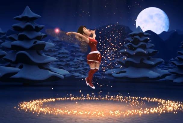 make Awesome Merry Christmas Intro