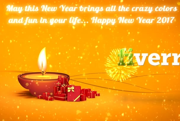 give indian style new year lights video