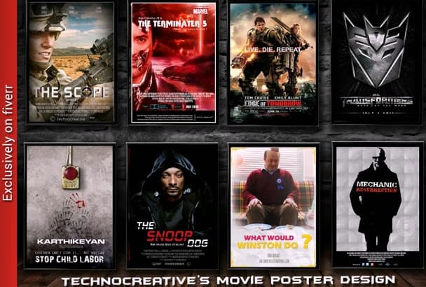 design a standout and professional movie poster for your film