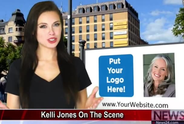 make a news video with optional second reporter and custom billboard
