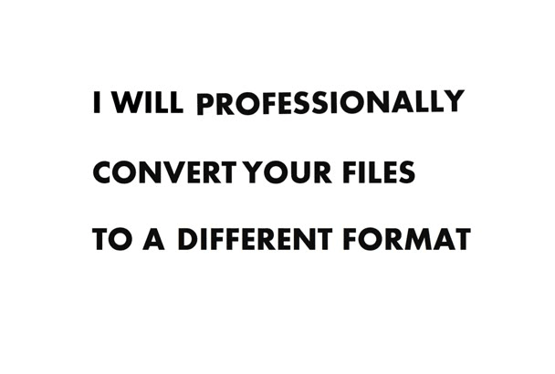 convert your any file format within few hours of given time