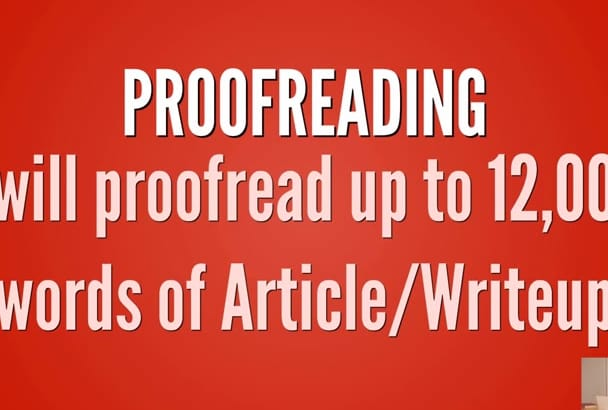 proofread Articles 12,000 words in 24hours
