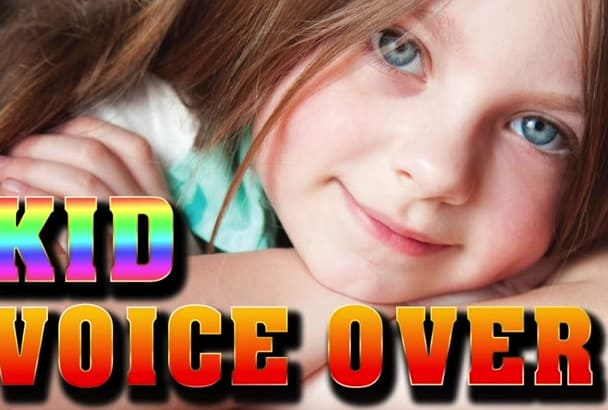 record a cute kid little girl child voiceover voice