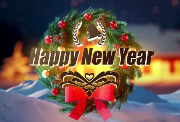 make a happy new year 2017 video greeting for in 24 hours