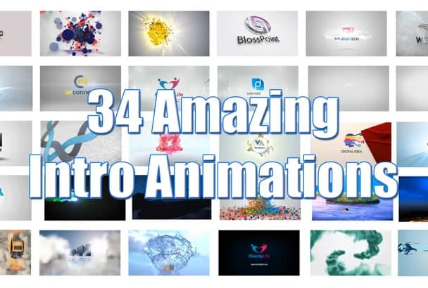 create 34 Amazing intro Animation video