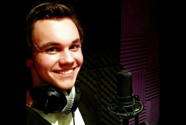 record a Pro voice over within 24 hours British or American