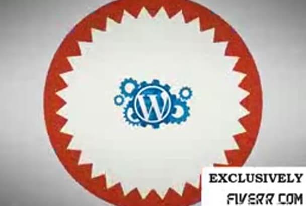 create WordPress theme or CUSTOMIZE for you