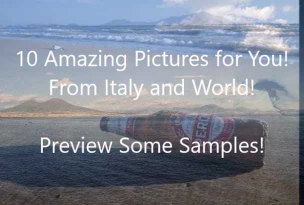give 10 PHOTOS of Italy or more