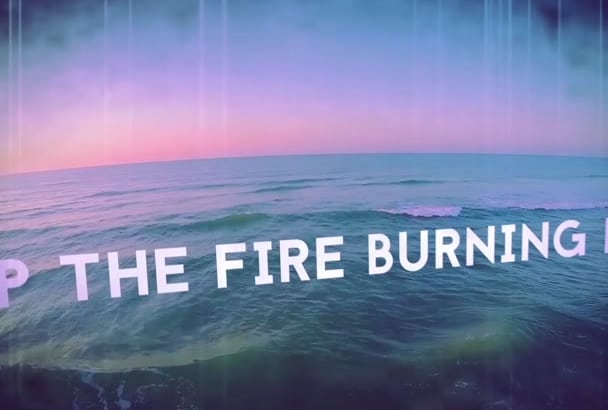 make a lyric video for your entire song