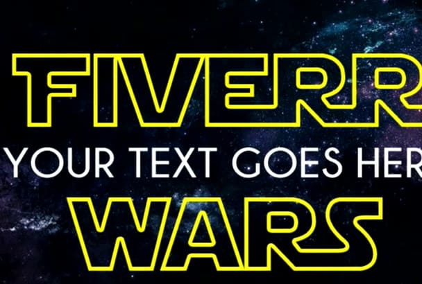 make a Star Wars style logo with your desired text