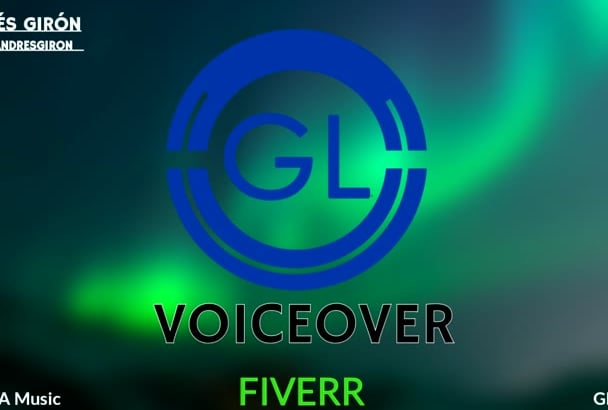 record Professional VOICEOVER for you