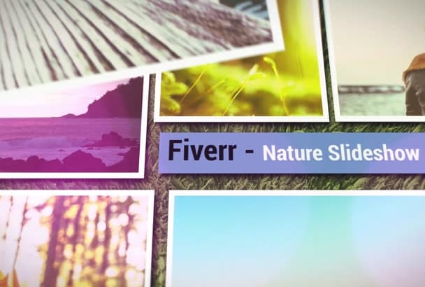 create a slideshow nature theme