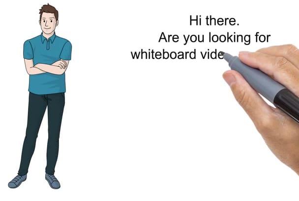 create a costum whiteboard video