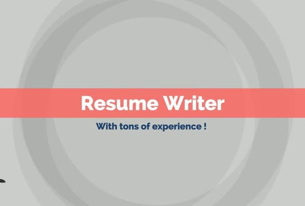 write or rewrite your resume and cover letter